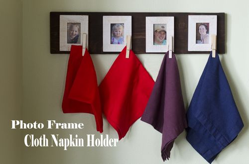 Photo Frame Cloth Napkin Holder